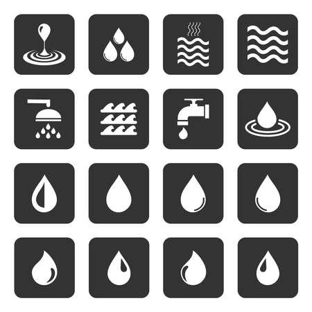 water icon vector design symbol Vettoriali
