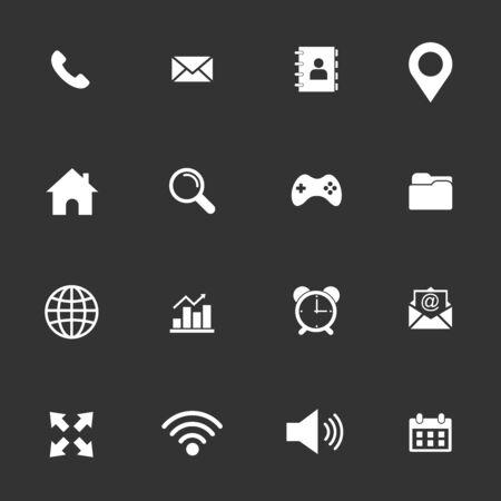 web icon set vector design symbol Vecteurs