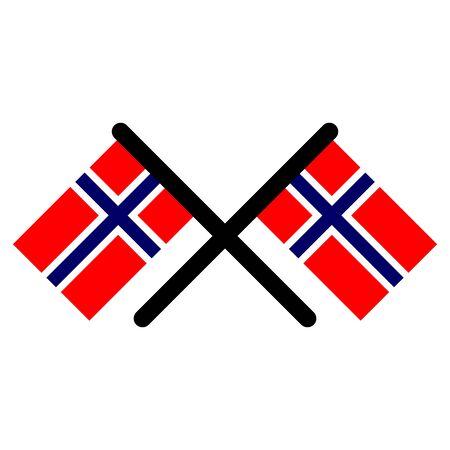 Norway flags icon vector design symbol Stock Illustratie