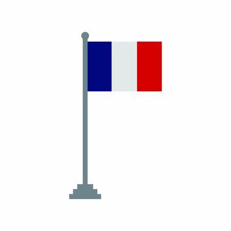 France flags icon vector design symbol