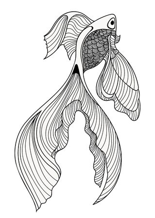 colorize: Abstract fish sketch