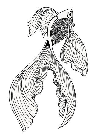 abstract fish: Abstract fish sketch