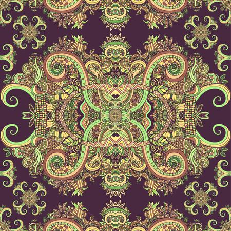 redskin: Boho ornament, texture. Ethnic ornamental floral. Abstract floral plant natural Seamless pattern. Vintage decorative elements. Hippie, Indian, fantasy, ottoman motifs. Textile print, Fabric design