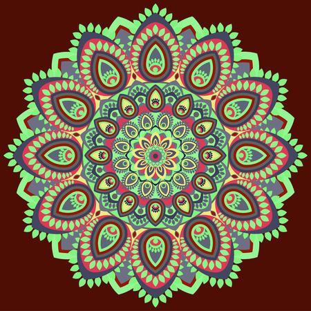Mandala multicolored Illustration
