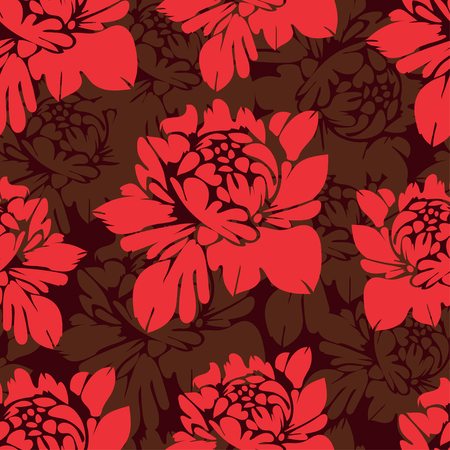 abstract flowers: Abstract flowers seamless pattern