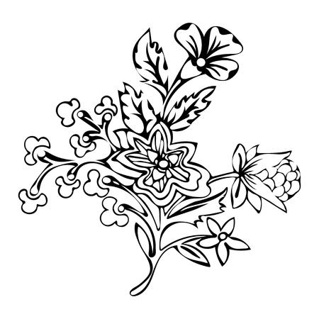 Resumen De Flores, Flor De Fantasía, Dibujos Para Colorear, Dibujo ...