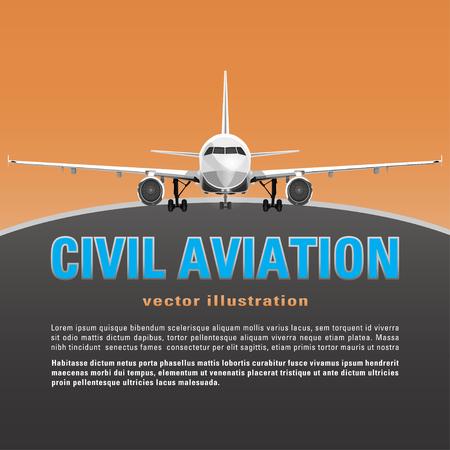 Aircraft vector. Illustration