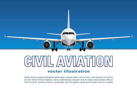 chassis: Aircraft vector. Illustration