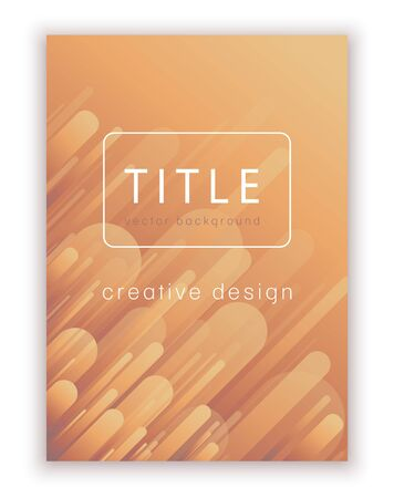 Creative minimum template for cover design, vector abstract background. Modern pattern in soft gradient shapes composition brown-yellow-orange colors for creating flyers, banners, posters, card Ilustração
