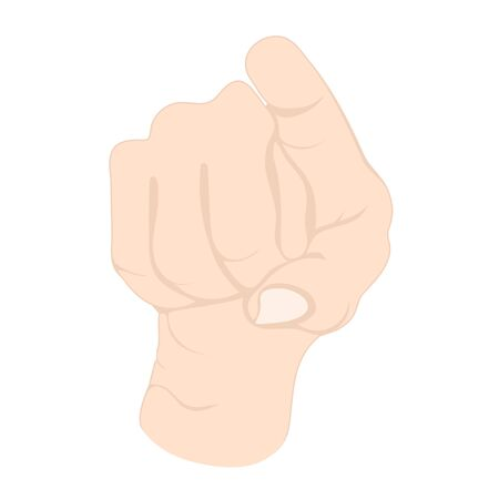Hand gesture, wrist with fingers with sign pointing to you 向量圖像