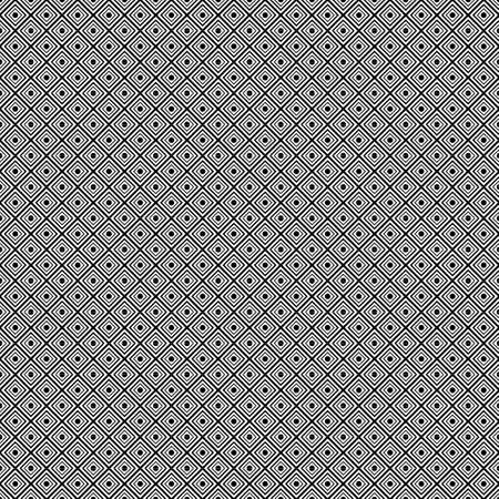 Rhombuses geometric seamless pattern, black and white background, monochrome tile. For fabric design, wrapper, surface, print, texture, decoration. Vector illustration