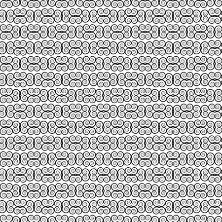 Black and white ornament, graphic ethnic seamless pattern, geometric monochrome background. For fabric design, wrapper, surface, print, texture, decoration. Vector illustration Vectores
