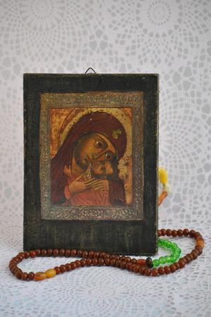 jezus: Catholic rosary Stock Photo