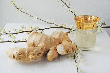 ginger health: Ginger tea good for health Stock Photo