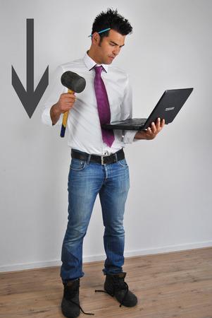 workingman: De un hombre de carrera, con empate a un hombre que trabaja con los zapatos de trabajo