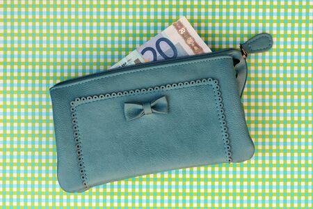 change purse: Money in a wallet
