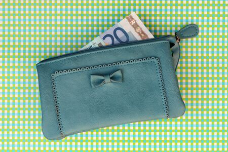household money: Money in a wallet
