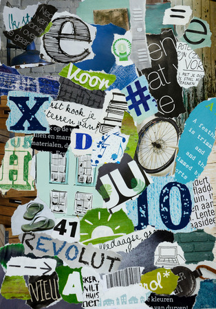 Moodboard of magazines in boys colors photo
