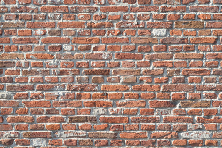 brown old red bricks wall with empty copy space Archivio Fotografico