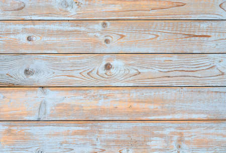 old wallpaper: blue gray horizontal wooden shelves background with empty copyspace Stock Photo