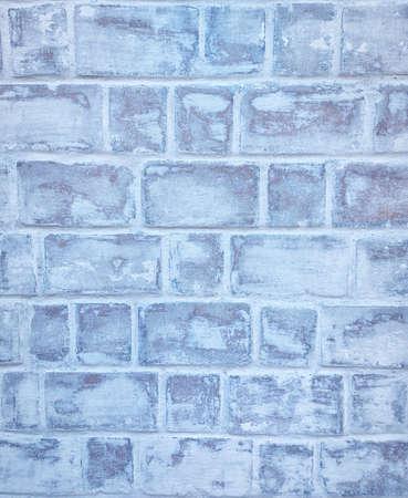 Retro whitewash old brick wall surface. White rustic background texture. Vintage Structure. Design element.