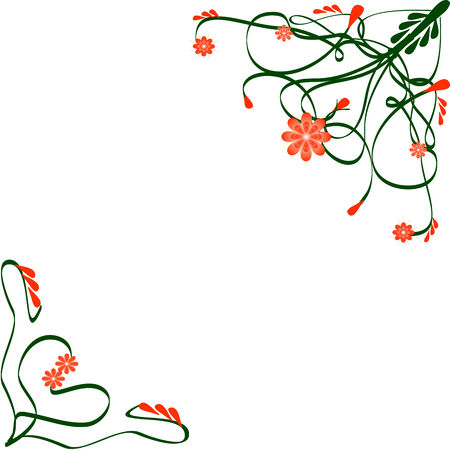 Abstract floral silhouette, element for design. Vector
