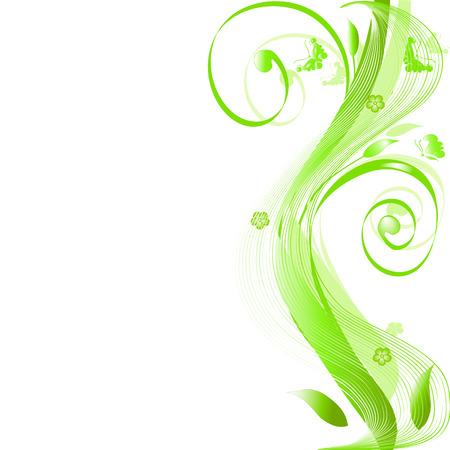 Abstract floral silhouette, élément de design. Banque d'images - 4544573