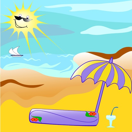 Cartoon of   the beach Stock Vector - 4661575