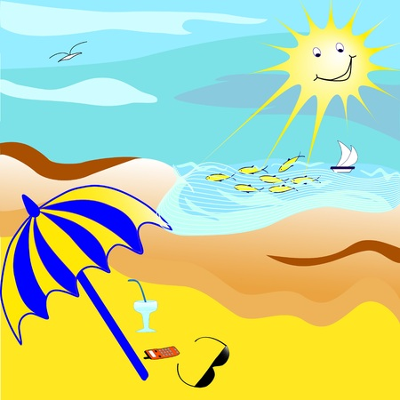 Cartoon of   the beach Stock Vector - 4661574