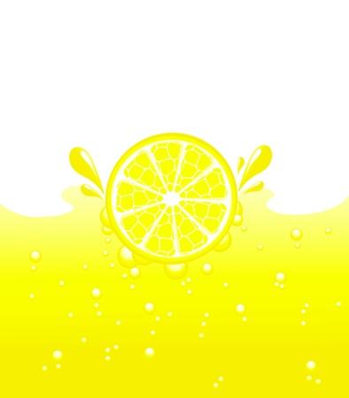 レモンのレモネード、ベクトル図に陥る 写真素材 - 4870668