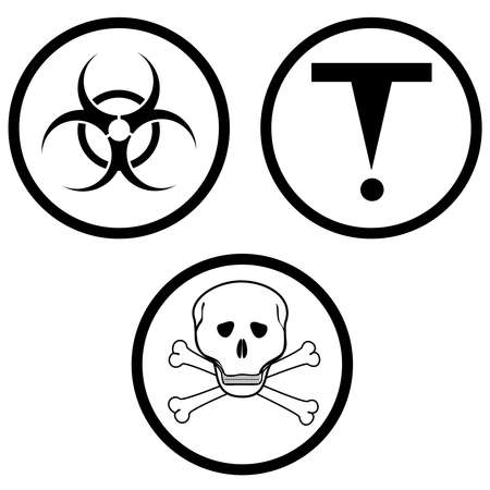 chemical hazard: class D of hazardous materials. vector illustration