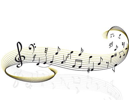 tones: Music theme. vector illustration