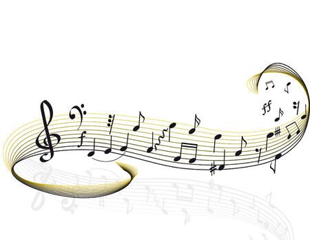 Muziek thema. vector illustratie Stock Illustratie