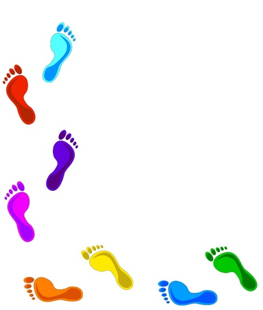 colorful Footprints - design elements. Vector illustration