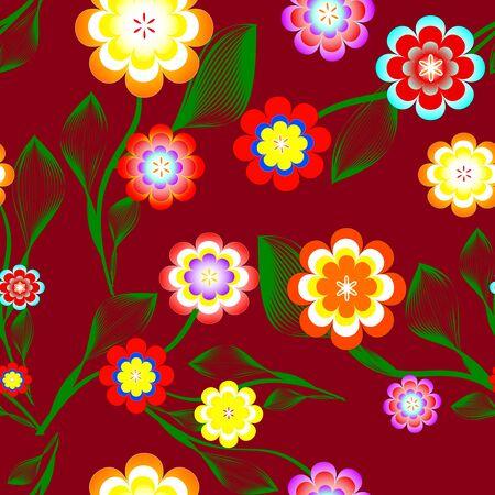 vector illustration of  floral background.
