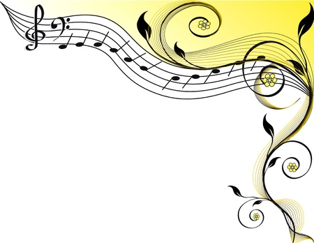 compose: Music theme. vector illustration