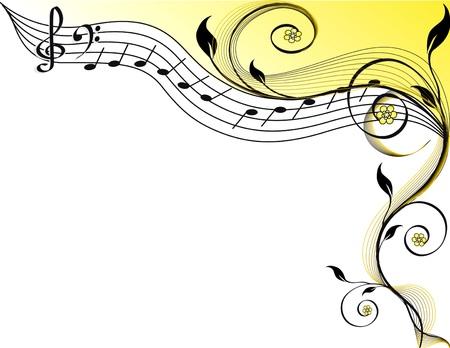Muziek thema. vectorillustratie