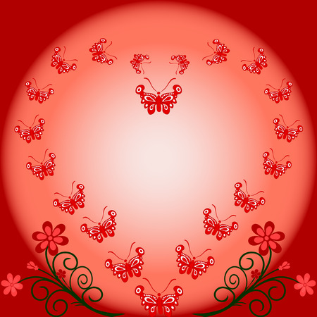 Floral background with butterflies. vector Stock Vector - 5384108