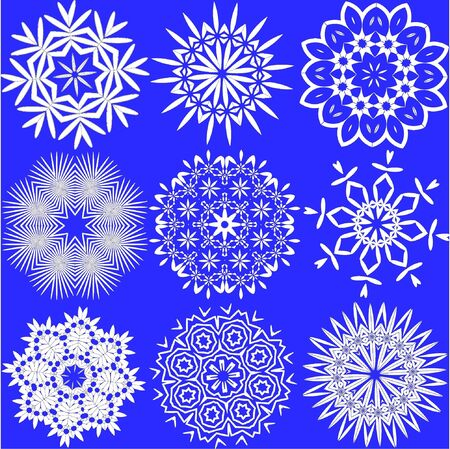 vector illustration of snowflakes