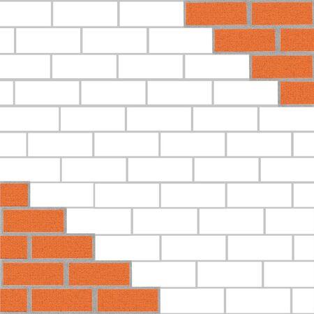paredes de ladrillos: de fondo de ladrillo. ilustraci�n Foto de archivo