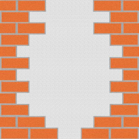 brickwork background. illustration Stock fotó