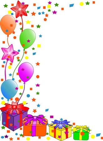 Happy Birthday background. vector Illustration