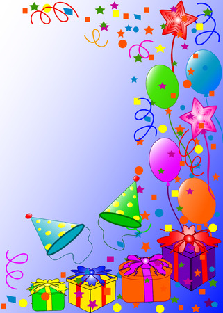Happy Birthday background. vector Çizim