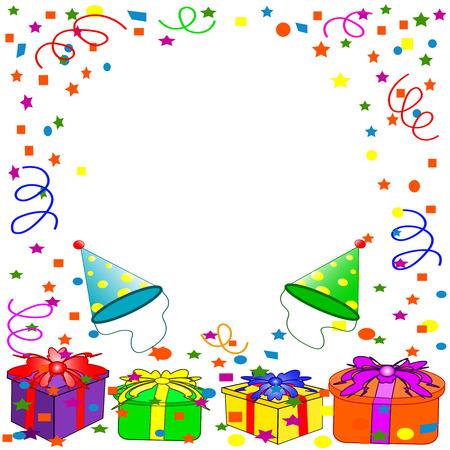 Happy Birthday sfondo. vettore  Archivio Fotografico - 5447976