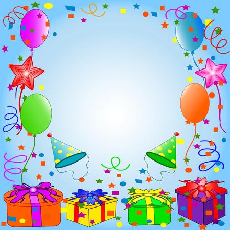 Happy Birthday fondo. Vector Foto de archivo - 5447978
