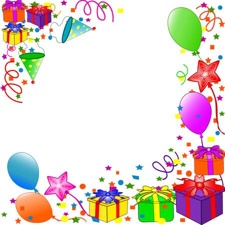 Happy Birthday achtergrond. vector Stock Illustratie