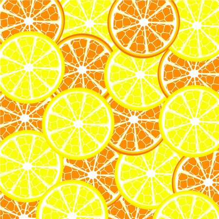 Vector illustration of lemon and orange background Vector