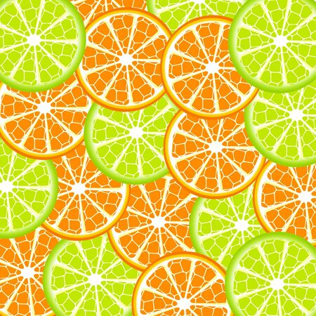 Vector illustration of lime and orange background Vettoriali