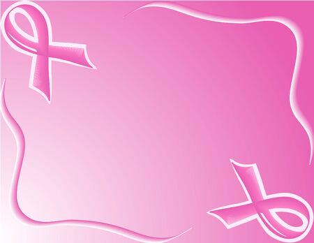 vector illustration of pink Support Ribbon