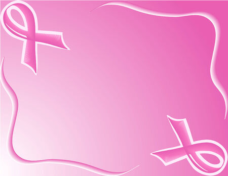 ribbons: vector illustration of pink Support Ribbon
